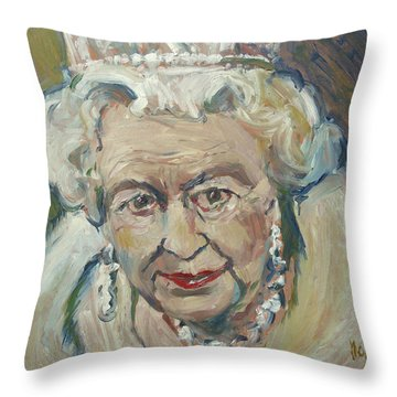 At Age Still Reigning Throw Pillow
