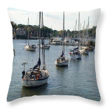 Throw Pillow featuring the photograph At Anchor by Charles Kraus