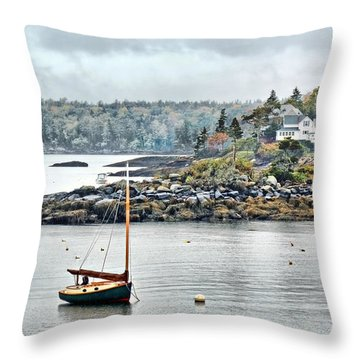 At Anchor - Maine Throw Pillow