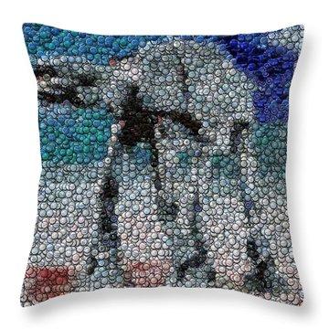 At-at Bottle Cap Mosaic Throw Pillow by Paul Van Scott