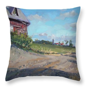 At Barn In Georgetown On Throw Pillow