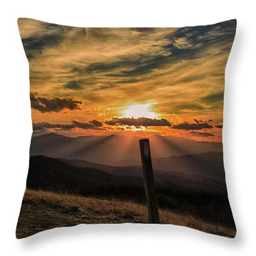 At Blaze Throw Pillow