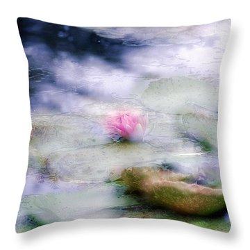 At Claude Monet's Water Garden 12 Throw Pillow
