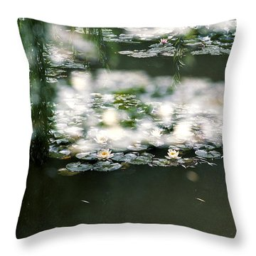 Throw Pillow featuring the photograph At Claude Monet's Water Garden 5 by Dubi Roman