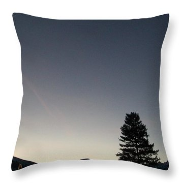 Throw Pillow featuring the photograph At Dusk by Jewel Hengen