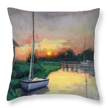 At Ease Sold Throw Pillow