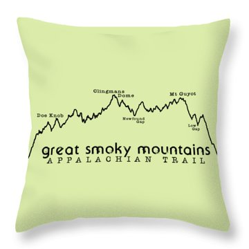 At Elevation Profile Gsm Throw Pillow by Heather Applegate