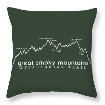 At Elevation Profile Gsm White Throw Pillow by Heather Applegate
