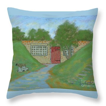 at Fort Anne Throw Pillow