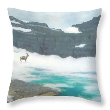 At Grinnell Glacier Throw Pillow