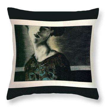 At Her Gaze Throw Pillow