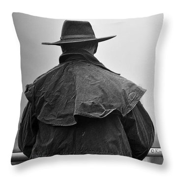 At Home On The Range #3 Black And White Throw Pillow