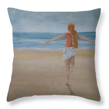 At Last Throw Pillow by Catherine JN Christopher