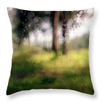 At Menashe Forest Throw Pillow