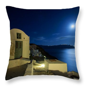 At Midnight Throw Pillow by Aiolos Greek Collections