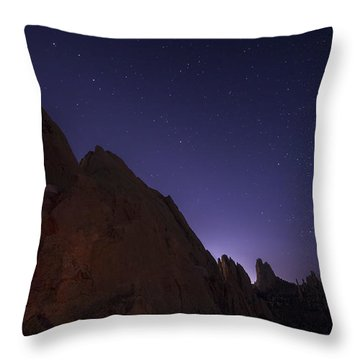 At Night Throw Pillow