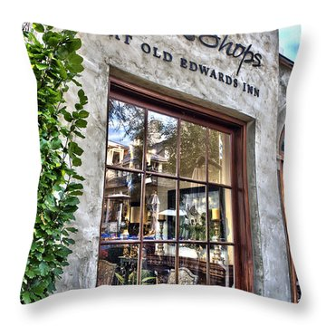 at Old Edwards Inn Throw Pillow by Allen Carroll