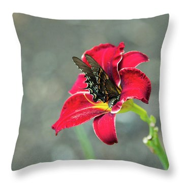At One With The Orchid 2 Throw Pillow
