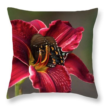 At One With The Orchid Throw Pillow