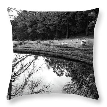 At Peace Throw Pillow by Donna Blackhall
