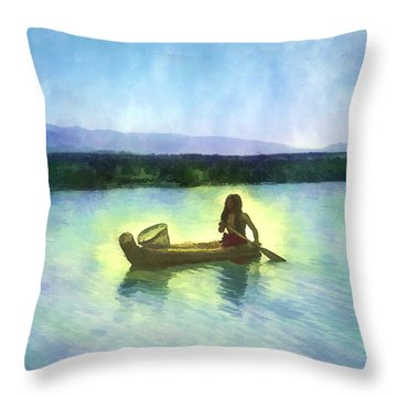 At Peace On The Water Throw Pillow