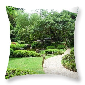 At Peace With Nature  Throw Pillow
