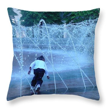 At Play Throw Pillow by Suzanne Gaff