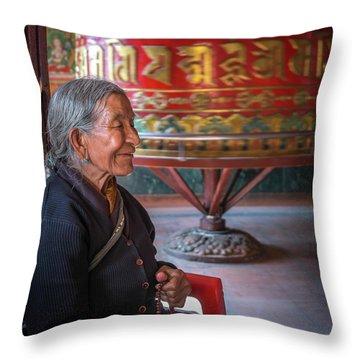 At Prayer Throw Pillow
