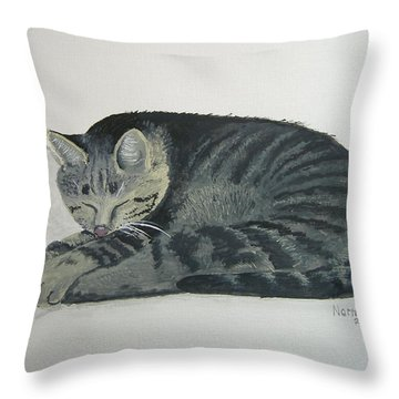 Throw Pillow featuring the painting At Rest by Norm Starks