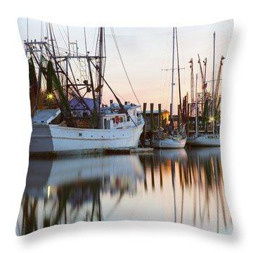 At Rest - Shem Creek Throw Pillow