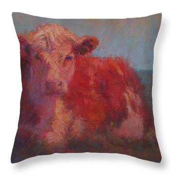 At Rest Throw Pillow by Susan Williamson