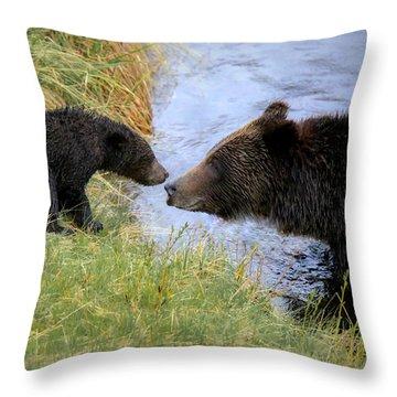 At River's Edge Throw Pillow