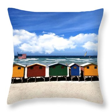 Throw Pillow featuring the photograph At The Beach by David Dehner