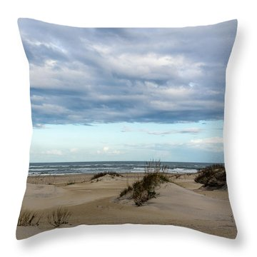 Throw Pillow featuring the photograph At The Beach by Gregg Southard