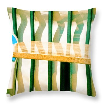 Throw Pillow featuring the photograph At The Beach by Tom Vaughan