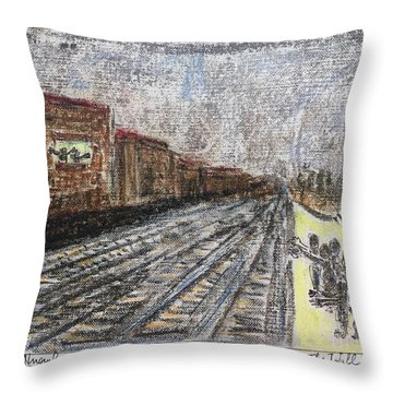 At The Berlin Wall 1975 Throw Pillow