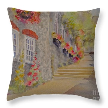 Throw Pillow featuring the painting At The Bottom Of Church Hill Hythe Kent by Beatrice Cloake
