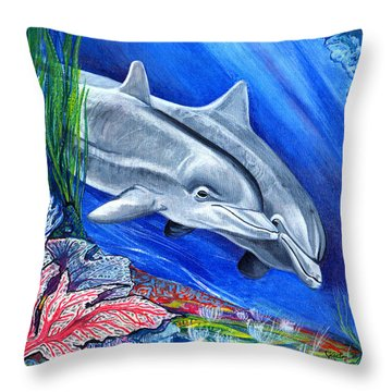 At The Bottom Of The Sea Throw Pillow by John Keaton