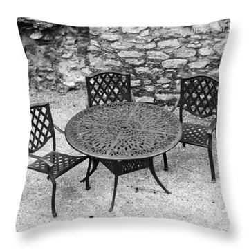 At The Castle Throw Pillow by Rae Tucker
