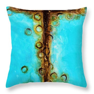 At The Cross Throw Pillow