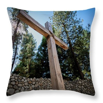 At The Cross Throw Pillow