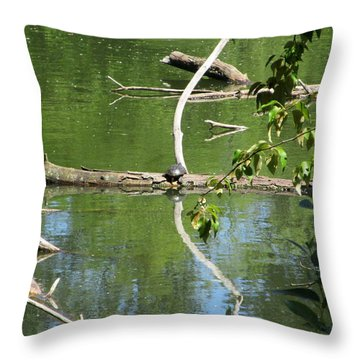 At The Crossroads Throw Pillow by Marie Neder