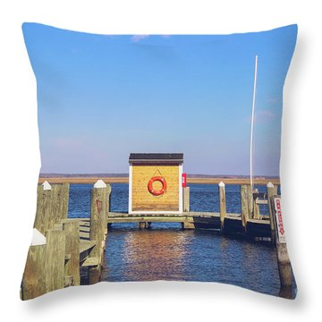 Throw Pillow featuring the photograph At The Dock by Colleen Kammerer