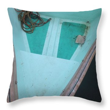 Throw Pillow featuring the photograph At The Dock by Olivier Calas
