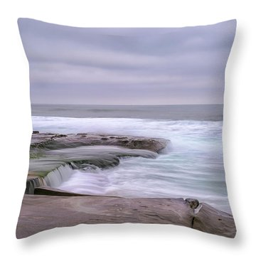 At The Edge Of The Sea Throw Pillow