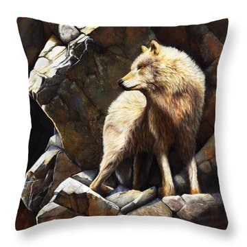At The Edge Of Time Throw Pillow