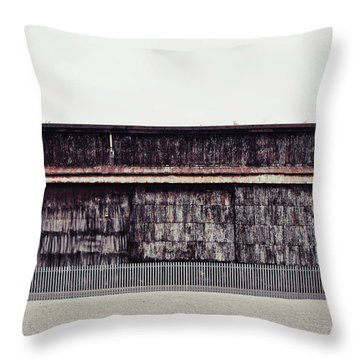 At The Edge Of Town Throw Pillow