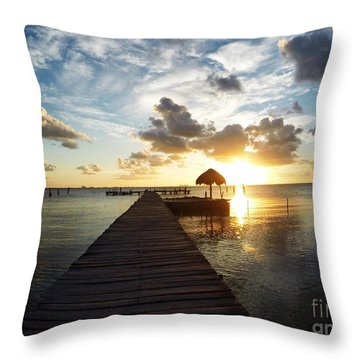 At The End Of Paradise Throw Pillow