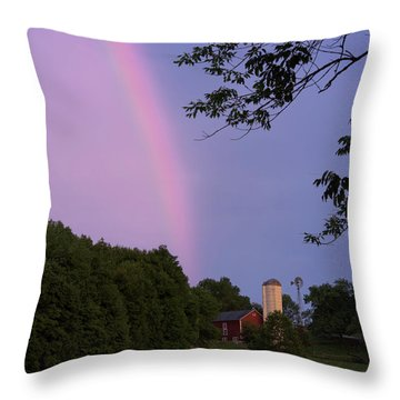 At The End Of The Rainbow Throw Pillow