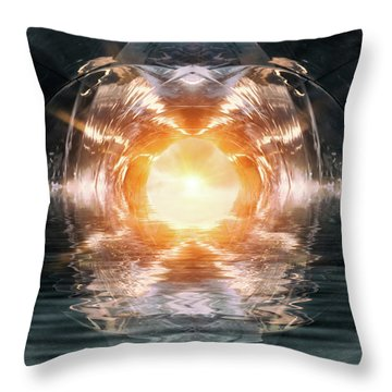 At The End Of The Tunnel Throw Pillow by Wim Lanclus